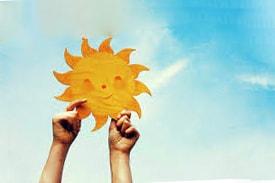 Солнечное небо своими руками